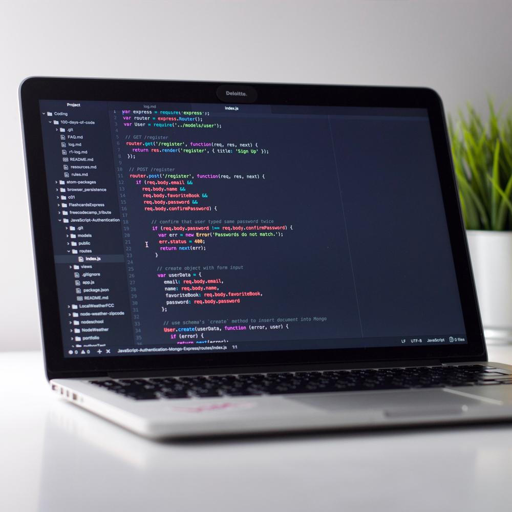 laptop, code